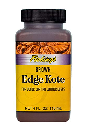 Fiebing's Edge Kote For Color Coating Leather Edges - Brown - 4 oz