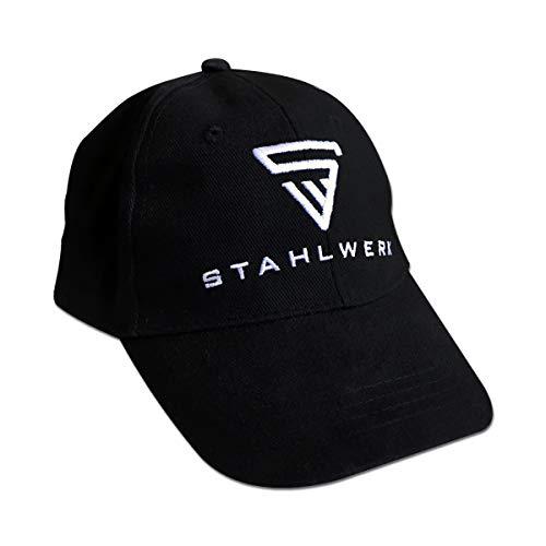 STAHLWERK Kappe Baseball Cap Merchandise Fanartikel schwarz mit weißem Logo Stick Einheitsgröße