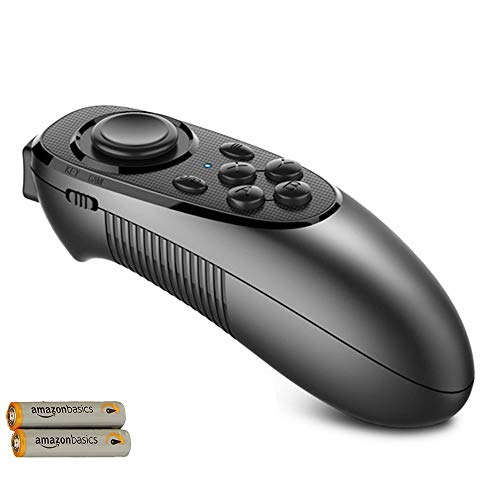VR Remote Controller Gamepad Bluetooth Control VR Video, Game, Selfie, Flip E-Book/PPT/Nook Page, Mouse, in Virtual Reality Headset PC Tablet Laptop iPhone Smart Phone