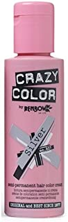 Crazy Color Semi Permanent Hair Color Cream Silver No.27 100ml , 4 Count