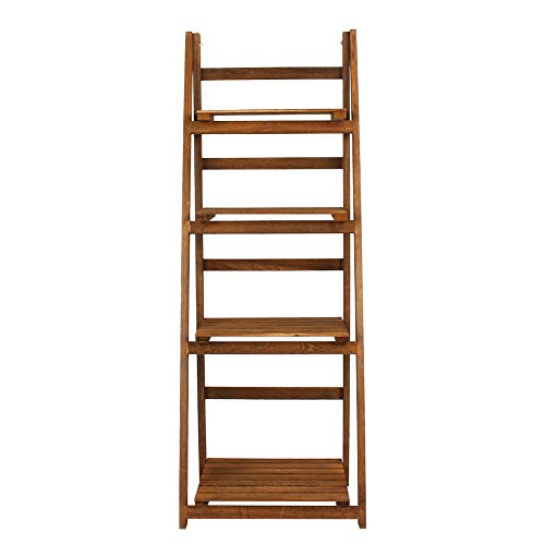 Pastoral Storage Shelf, Ladder Shape High Quality Clean and Tidy Storage Bins Made of Solid Wood