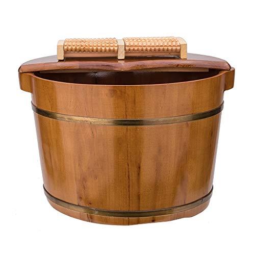 CHY Pied Baignoire, Épais Robuste en Bois for Les Pieds Pédicure Spa Soaking, Pédiluve Seau Et Soaker Bowl 26cm (Color : B)