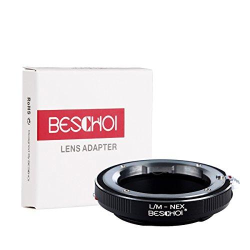 Beschoi Ottimo LM-NEX Anello Adattatore di Lente/Adattatore di Obiettivo/LM-NEX Mount Obiettivo/Adattatore per Avvitare i Leica M Lenti al Sony NEX3 NEX5 NEX5N VG10 E-Mount Camera Corpo