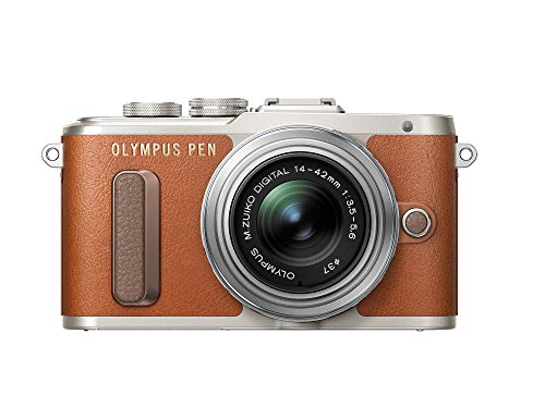 Olympus PEN E-PL8 Brown Body with 14-42mm IIR Silver Lens