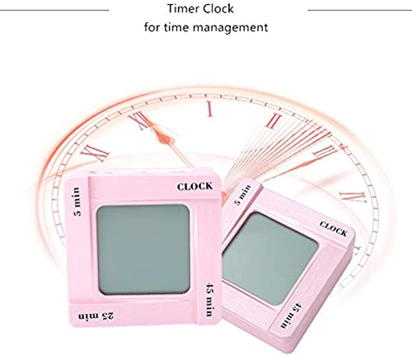 Small Portable Quiet Silent No Ticking Analog Travel Alarm Clock With Nightlight Snooze Timer For For Yoga Gym Office Class Kitchen Dorm Cooking Outdoor Home Kids Women Man Students Rose Gold