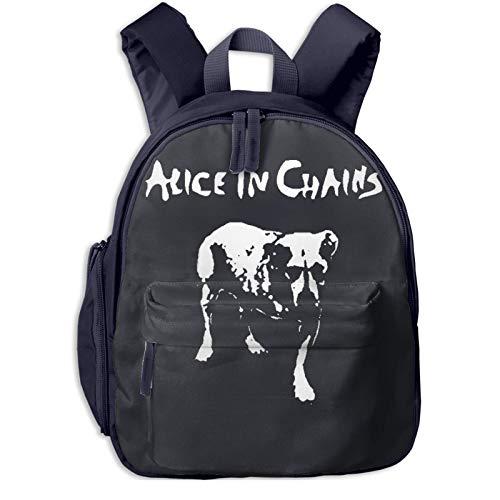 Yuanmeiju Alice in Chains, Mochila Escolar Ligera para niños, Mochila de Tren, Bolsa de Viaje Informal para Adolescentes y niñas con Bolsillos