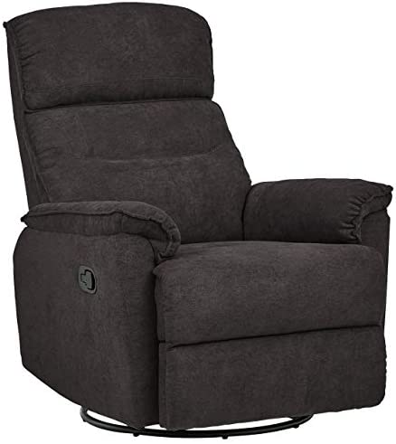 Best Amazon Brand – Ravenna Home Pull Recliner with 360 Rotating Swivel Glider, Living Room Chair, 39