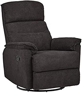 Ravenna Home Pull Recliner with 360 Rotating Swivel Glider, Living Room Chair, 39