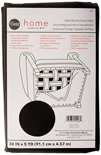 Prym Dritz 44296 Dust Cover Upholstery Fabric 36inX5 Yard-Charcoal Dritz Home Staubschutz für Polstermöbel, 91,4 x 45,7 cm, Anthrazit, acryl, Each