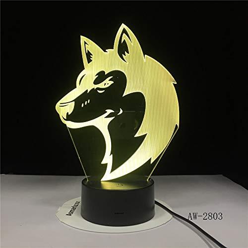 Fari di lupo animale creativo baby sleep luce notturna lampada da comodino decorazione camera da letto regalo per bambini