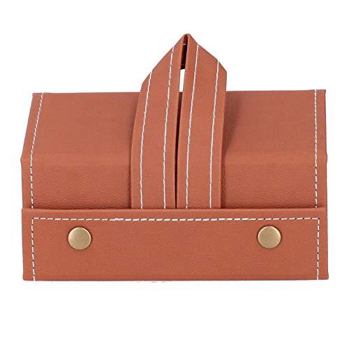 Sunglass Box Estuche para Gafas de Sol de Viaje con 3 Ranuras Organizador de Gafas portátil para exhibición de Almacenamiento de anteojos(marrón)