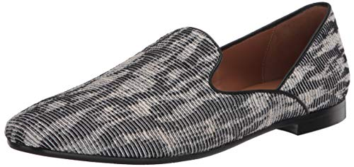 Aquatalia womens Loafer, Black/White, 7.5 US