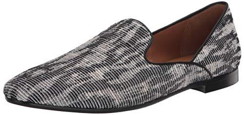 Aquatalia womens Loafer, Black/White, 8 US
