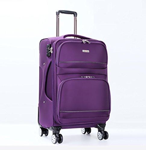 MFCJK Fashion Bagage Sets Lichtgewicht Duurzame Spinner Suitcase, Oxford Doek 28 Inch 46 * 32 * 77 Cm Koffer Zwart Bruin Rood Reiskoffer Wielen Zijgreep outdoor