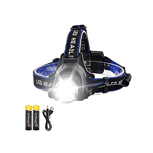 XINGTAO Linterna Frontal Lámpara de Cabeza LED Recargable 5000lm Lámpara de Cabeza de antorcha Faros Linterna Bombillas Impermeables XML T6 Ion de Litio Use 18650 Batería
