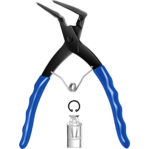 GHLTOOLS Heavy Duty Cylinder Snap Ring Pliers, 90 Degrees Bending Pliers With Deep Nose for Trucks Motorcycles Cars