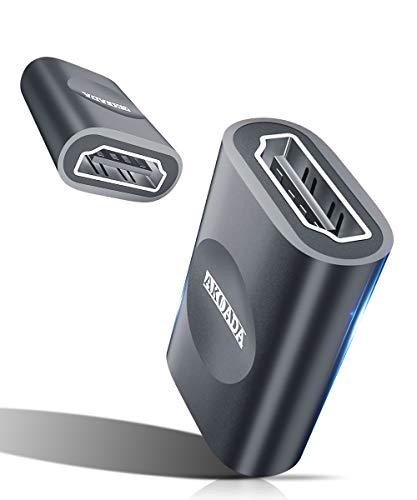 AkoaDa HDMI Kupplung HDMI Buchse auf HDMI Buchse HDMI Verlängerung Verbinder 3D 4K - Grau (2 Stück)