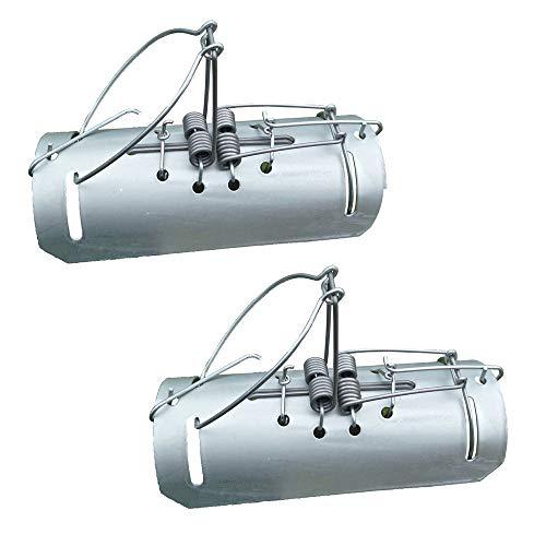 Confezione da 2 trappole professionali per talpe, tunnel o duffus, in acciaio inox, con istruzioni video (lingua italiana non garantita).