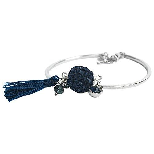 THE MOSHI Kate Armreifen Silber dunkelblau