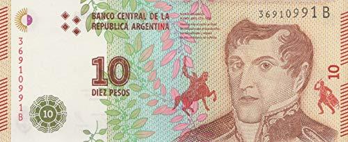 Argentinien Pick-Nr: 360b bankfrisch (I) 2016 10 Pesos (Banknoten für Sammler)