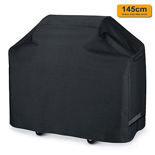 Ankier Housse de protection pour barbecue en tissu Oxford respirant Noir 145 cm