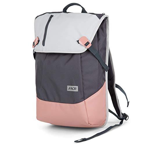 AEVOR Daypack - erweiterbarer Rucksack, ergonomisch, Laptopfach, wasserabweisend, Chilled Rose