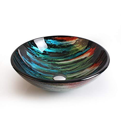 Salle de bains en verre trempé art lavabos Art...