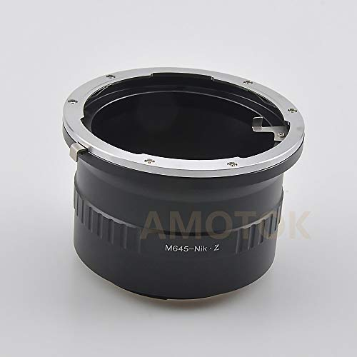 Mamiya 645 M645 - Lente para Nikon Z Mount Z6 Z7 Full Frame Camera Mamiya 645 a Nik Z adaptador
