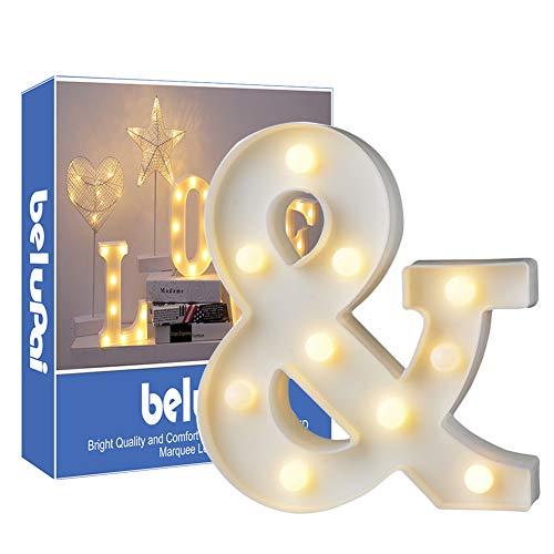 Letras Led Letras Luminosas Decorativas Letras Alphabet Light Luces De Espejo Del Alfabeto A-Z con Luces de LED para Decoración de DIY Wedding Party Dormitorio Decoración de Navidad- Letra &am