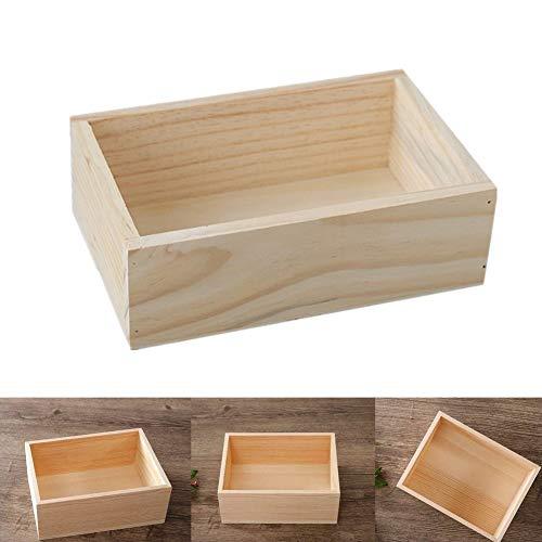 Milopon Caja de almacenamiento (Caja de madera caja de madera de almacenaje Box Vintage–Caja multiusos caja caja de madera
