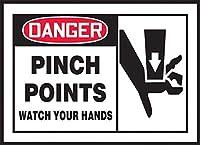 安全標識-危険ピンチポイントはあなたの手を見てください。インチ金属錫サインUV保護および耐候性、通知警告サイン