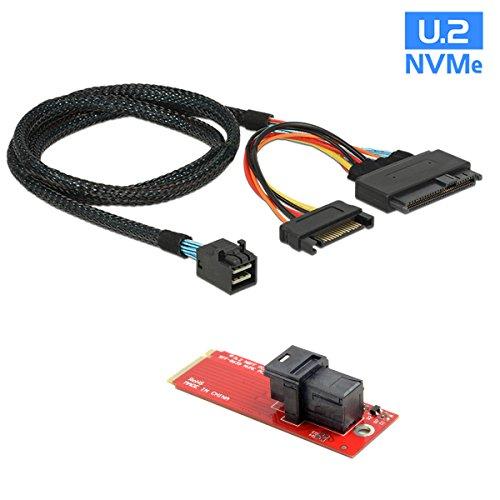 U.2 U2 SFF-8639 NVME PCIe SSD Kabel + Adapter für Mainboard Intel SSD 750 p3600 p3700 M.2 SFF-8643 Mini SAS HD