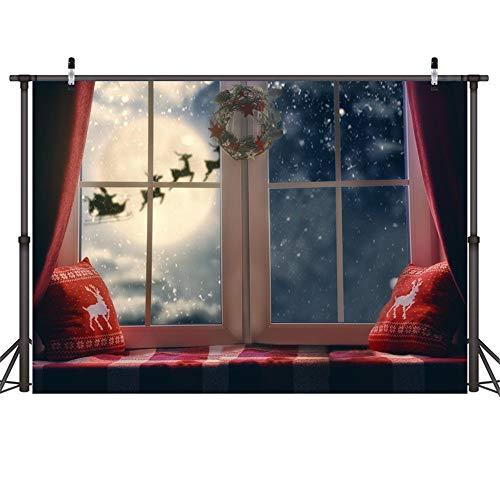 WanuigH-DZ fotografie fondanale punten op de kerstgrond slinger decoratie voor ramen voor kerst feesten prioriteit foto tatuaggi fotobooth vlag