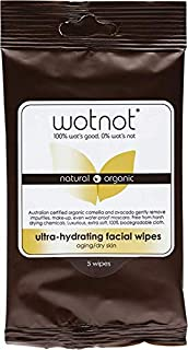 Wotnot Ultra-hydrating Face Wipes for Dry and Sensitive Skin 5 Pack, 5 count Pack of 1
