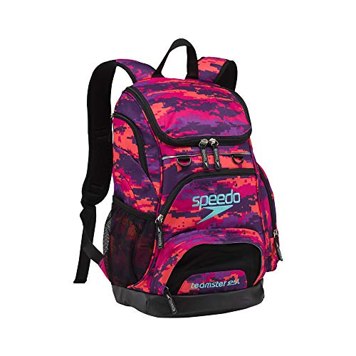Speedo Medium Teamster Rucksack – 25L, unisex, Camo Purple