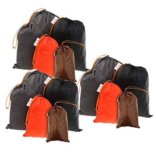 perfk 15Pack Compression Stuff Saco Compresión Saco de Dormir Saco de Material Bolsa 5 Tamaños