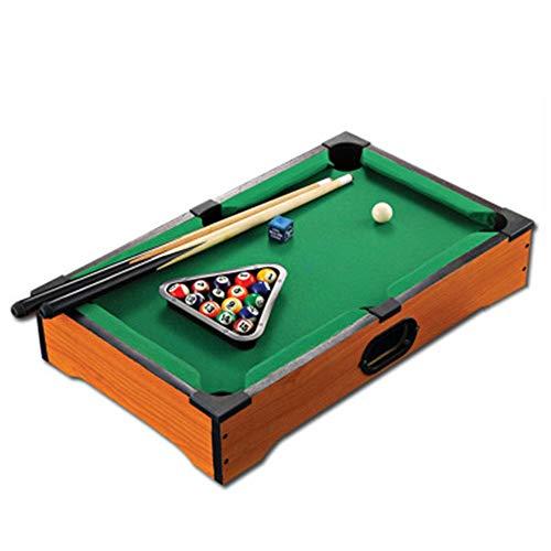 Kickertisch Spiel MinihauptEndoscope Billardtisch Inklusive Spielbälle, Sticks, Kreide, und Dreieck Tragbare und Spaß for die ganze Familie Tabellen-Spiel Familienspiele