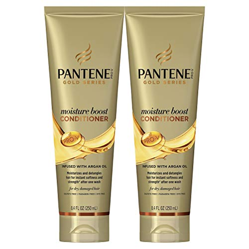 Price comparison product image Pantene,  Sulfate and Paraben Free Conditioner with Argan Oil,  Pro-V Gold Series,  for Natural and Curly Textured Hair,  8.4 fl oz,  Twin Pack