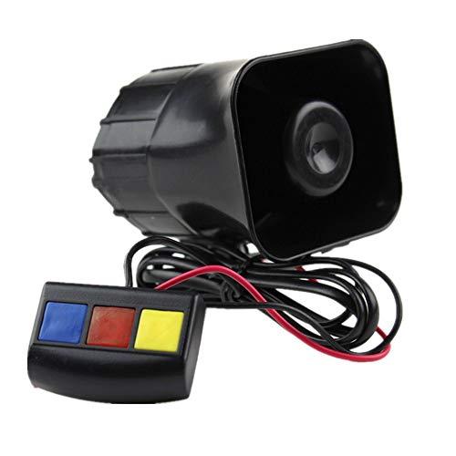 Mioke Alarma Altavoz Bocina 12V 30W 3 Sonidos para Motocicleta Coche Sistema de Alarma Sirena Policía Bombero de Advertencia