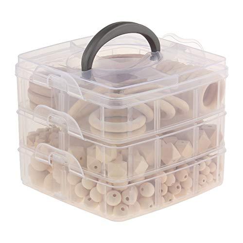 Tubayia Baby Zahnpflege Holz Beißring Teether Spielzeug Holz Tier Perlen Gemischt Förmig Set DIY Halskett Armband Spielzeug Geschenk