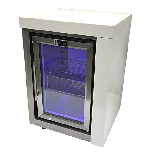 Mont Alpi 2.6 Cu. Ft. Outdoor Rated Refrigerator Cabinet Module - Stainless Steel - MASFM