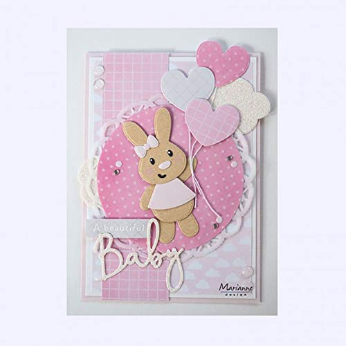Marianne Design Baby Bunny collectables Plantillas de Corte, eline