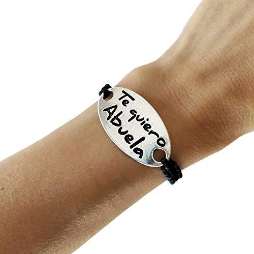 Pulsera Te quiero Abuela en color plata, Regalo abuela, regalo mama, pulsera...