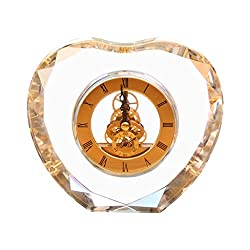 LANNA SHOP- Retro Mantel/Mantle Rhythm Quartz Clock Living Room Desk Shelf Clocks Decoration 6.3x5.5inch