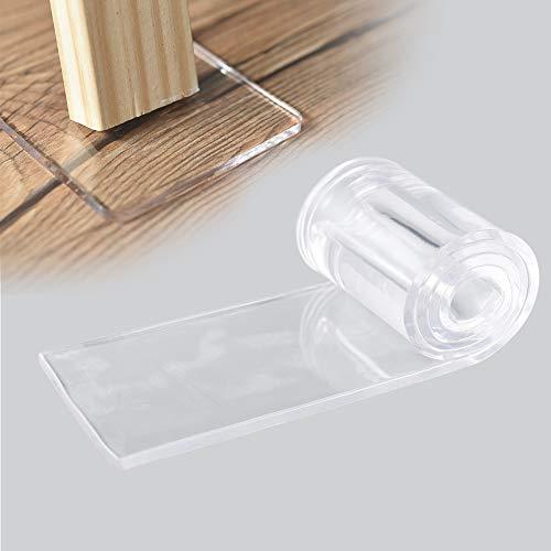 Irich Lot de 4tampons anti-vibrations adhésifs transparents en polyuréthane pour pieds de meubles Tapis anti-dérapant Réduit le bruit et prévient les dommages pour divers planchers de meubles