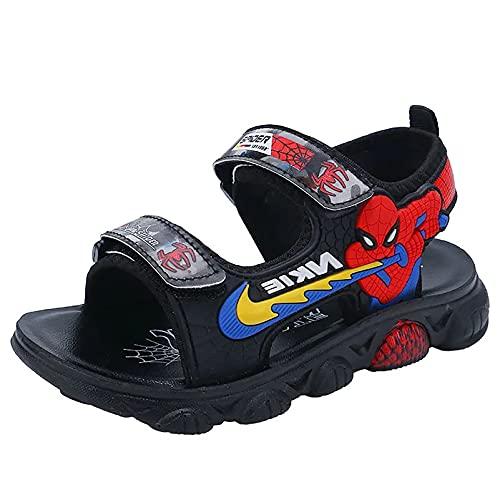 Zapatos deportivos para niños y niñas, sandalias deportivas luminosas de verano al aire libre (tamaño: 29, color: rojo)