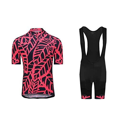 Uglyfrog Fietsshirts Ademend Fietsshirt met Korte Mouwen en 3D Gel Pad Bib Shorts voor Pro Bicycle Team Kleding DTML01