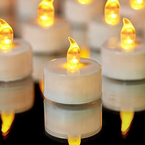 YIWER Lot de 50 bougies LED Bougies CR2032 piles Bougies Unscented...