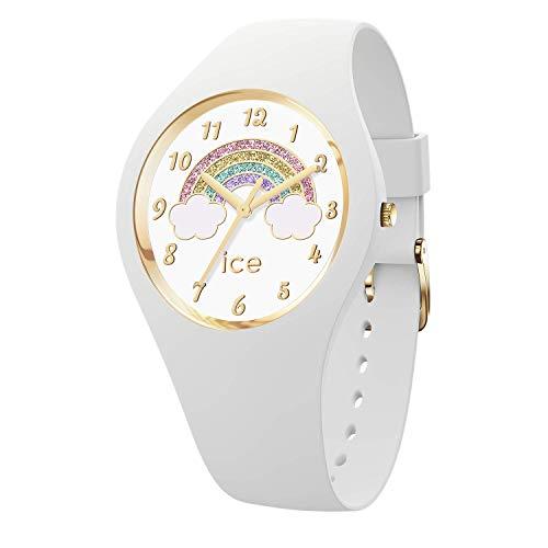Ice-Watch - ICE fantasia Rainbow white - Weiße Damenuhr mit Silikonarmband - 017889 (Small)