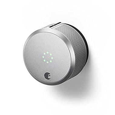 August Smart Lock Pro, 3rd Generation - Silver, Works with Alexa